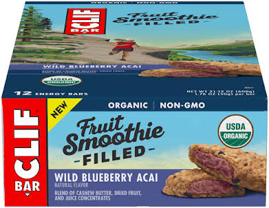 Clif Bar Fruit Smoothie Filled Bars: Wild Blueberry Acai, Box of 12