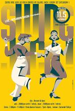 """Photo: flyer design for """"Swing Jack vol.157""""."""