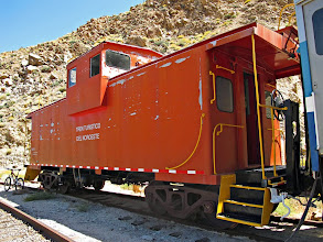 Photo: Caboose that used to be with the Montreal cars, no longer there (borrowed from a blog)