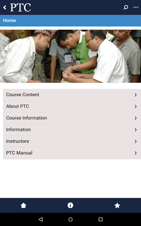 PTC App- screenshot