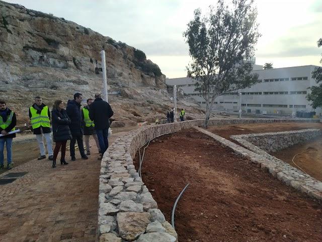 Visita a las obras de conexión entre Pósito y Almanzor