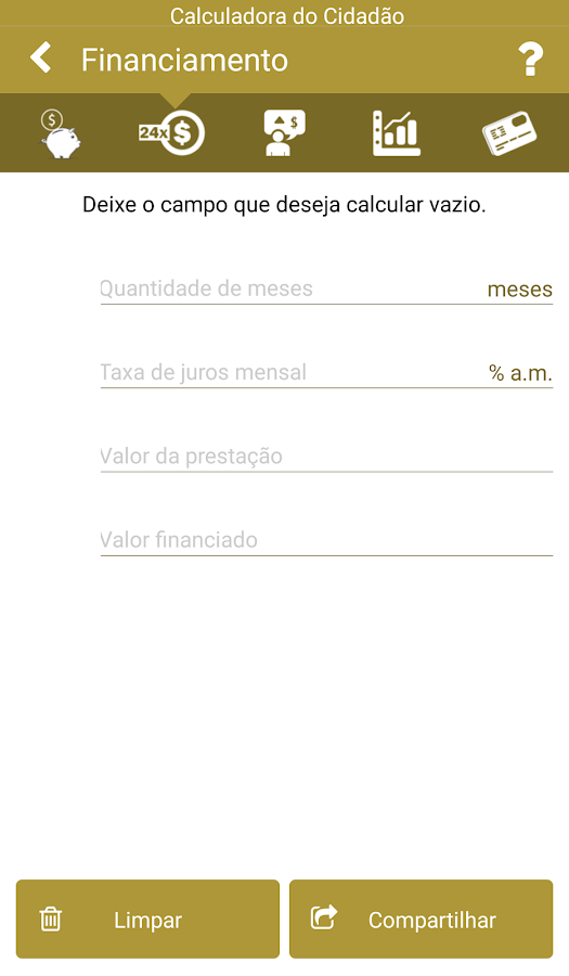Calculadora do Cidadão- screenshot