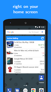Widget for eBay - náhled