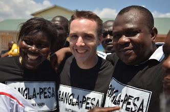Photo: Emma Onyango, WIll RUddick and Hon. Twalib Badi
