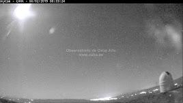 Imagen grabada por Calar Alto con el telescopio totalmente iluminado..
