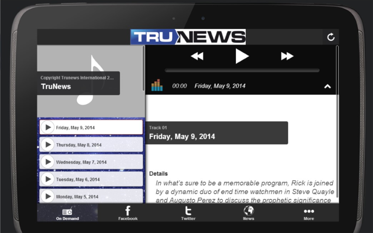 Trunews- screenshot