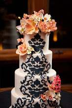 Photo: Damask and Sugar Flower Wedding Cake by Wild Orchid Baking Company (3/10/2012) View Cake Details Here: http://cakesdecor.com/cakes/8982