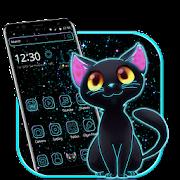 ليلة مظلمة موضوع النيون القط APK