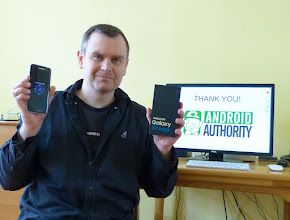 Photo: Giveaway winner Peter from the UK showing off his new Samsung Galaxy S7 Edge.