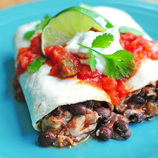 Easy Chicken and Black Bean Burritos.