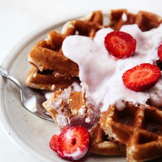 Whole Grain Strawberry Yogurt Waffles