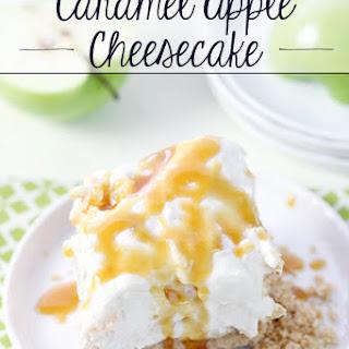 No-Bake Caramel Apple Cheesecake.