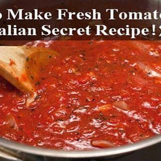 How To Make Fresh Tomato Sauce (Italian Secret Recipe!)