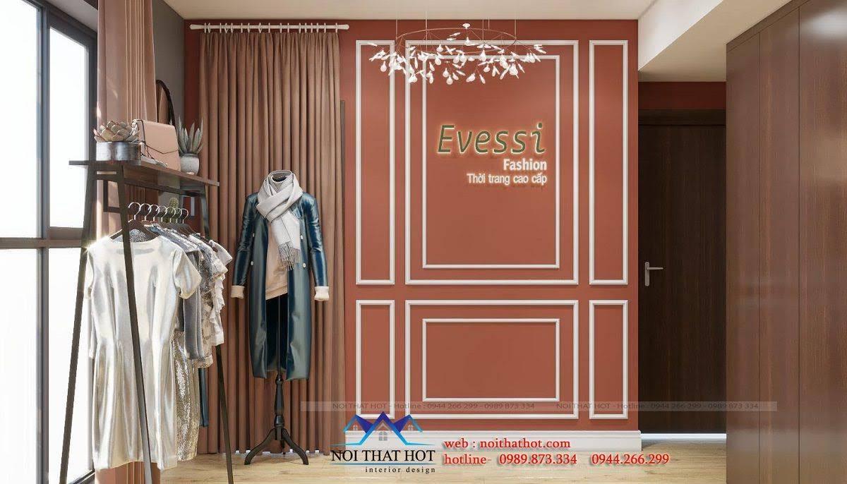 mẫu vách logo shop thời trang