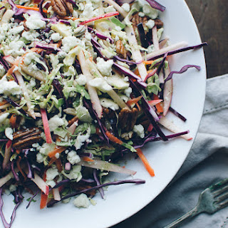 Red Cabbage and Brussels Sprouts Slaw