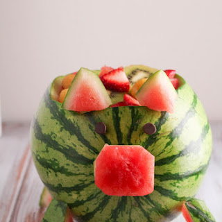 Watermelon Pig Fruit Salad