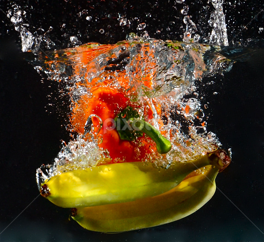 Orange Pepper with Banana's by Craig Luchin - Food & Drink Fruits & Vegetables