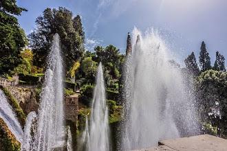 Photo: Views of the gardens from the top of Fontana di Nettuno in Villa d'Este in Tivoli, Lazio, Italy