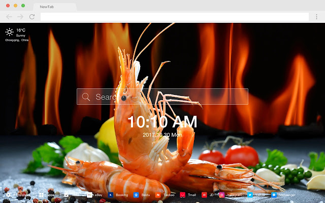 Seafood Hot Food HD Wallpapers New Tabs Theme