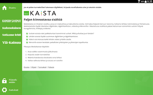 MediaKaista- screenshot thumbnail