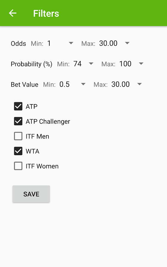 Tennis Predictions- screenshot