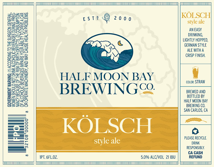Logo of Half Moon Bay Brewing Co. Kolsch Style Ale