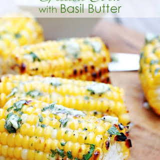 Grilled Corn with Basil Butter.