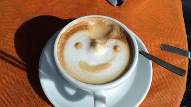 Photo: przepyszne cappuccino w naszym ulubionym Cafe Zenit
