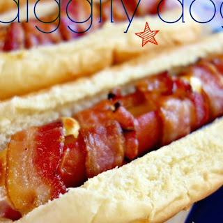 Cheesy Bacon Wrapped Hot Dogs.