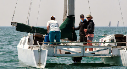 Photo: Water Rats Regatta - race committee led by JTown's Albacore ace, Darren Monster