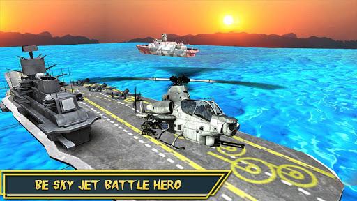 Helicopter Strike Gunship War: 3d Helicopter Games ss1