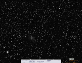 """Photo: A small sample, only 35m of a tiny galaxy IC 10. IC 10 is very strange indeed, and I'll simply quote from wikipedia...  """"IC 10 is an irregular galaxy in the constellation Cassiopeia. It was discovered by Lewis Swift in 1887.[3] Nicholas Mayall was the first to suggest that the object is extragalactic in 1935. Edwin Hubble suspected it might belong to the Local Group of galaxies, but its status remained uncertain for decades. The radial velocity of IC 10 was measured in 1962, and it was found to be approaching the Milky Way at approximately 350 km/s, strengthening the evidence for its membership in the Local Group.[3] Its membership in the group was finally confirmed in 1996 by direct measurements of its distance based on observations of Cepheids. Despite its closeness, the galaxy is rather difficult to study because it lies near the plane of the Milky Way and is therefore heavily obscured by interstellar matter.[4]""""  https://en.wikipedia.org/wiki/IC_10  #Space  #Astronomy"""