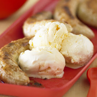 Warm Bananas with Vanilla Ice Cream