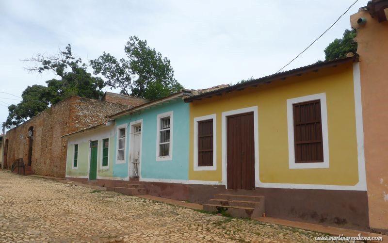 Historical cobbled street in Trinidad, Cuba