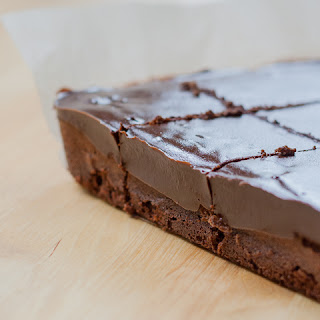 Cinnamon Chocolate Brownies with Chocolate Ganache.