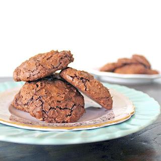 Dark Chocolate Almond Meringue Cookies (GF).