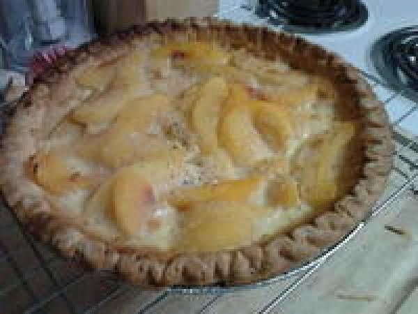 Custard Peach Tart