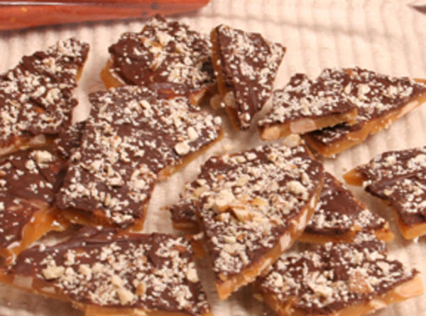 Chocolate Covered English Toffee With Pecans Recipe