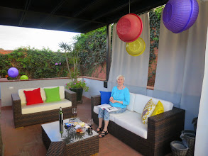 Photo: Arooftop terrace, patio and living room were common areas.