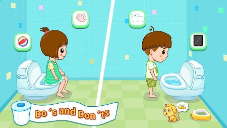 Baby Panda's Potty Training - Toilet Time APK screenshot thumbnail 2