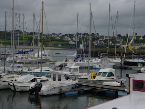 Photo: Lots of pleasure craft in the town harbor.