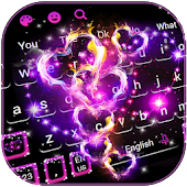 Sparkling Love Hearts Keyboard Theme