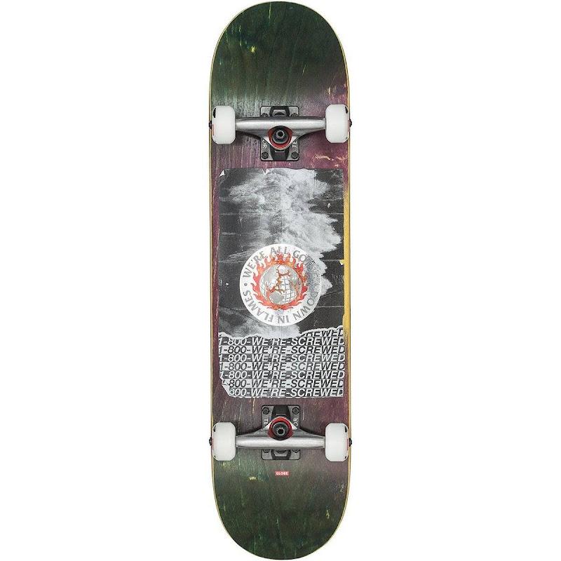 skateboard - Globe  In flames tsunami 7.75