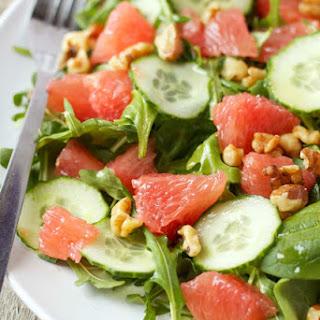 Grapefruit and Arugula Salad with Honey Lemon Vinaigrette
