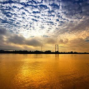 Mahakam River this morning by Taufiqurakhman Ab - Landscapes Sunsets & Sunrises