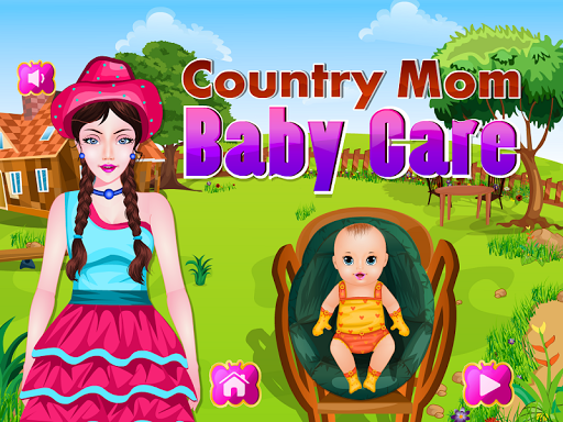 Country Mom Baby Care Games