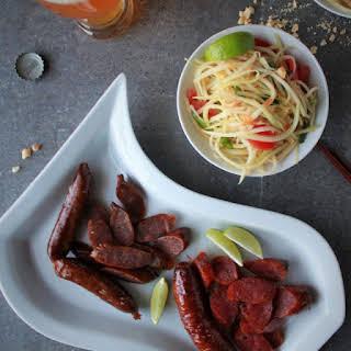 Green Papaya Salad and Chinese Sausage.
