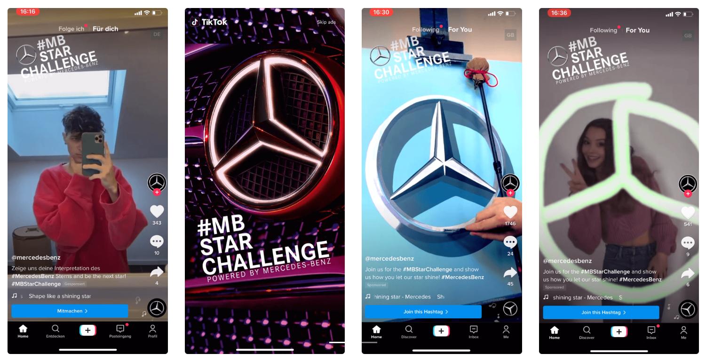 Mercedes Benz star challenge social media campaign