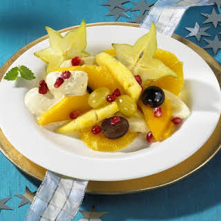 Fruit Salad with Cool Ginger Cream.