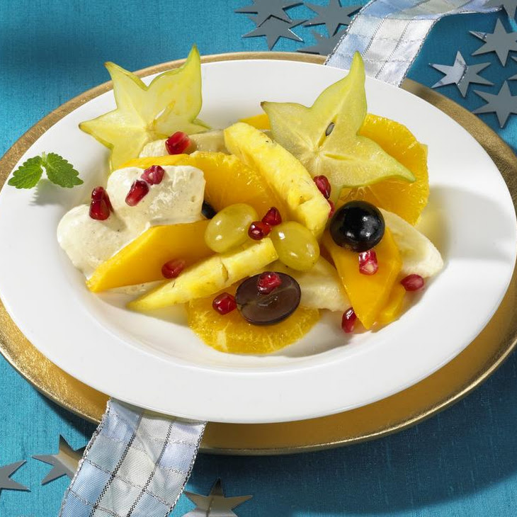 Fruit Salad with Cool Ginger Cream